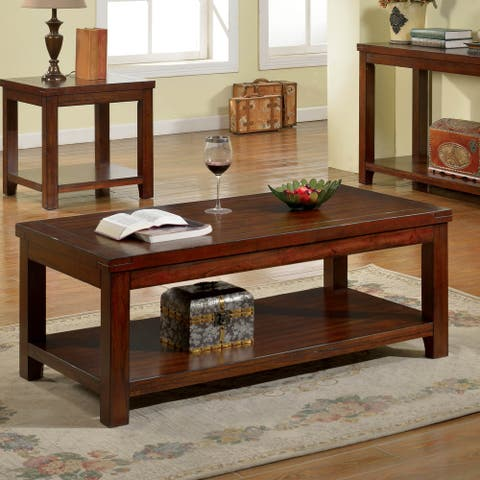 Copper Grove Bowron Dark Cherry Coffee Table