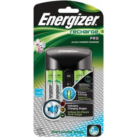 Energizer CHPROWB4 Recharge Pro AA/AAA Charger w/ 4 AA Rechargeable Battery
