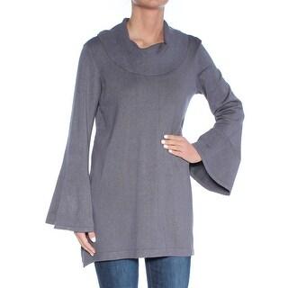 ALFANI Womens Gray Bell Sleeve Cowl Neck Tunic Top  Size: XS
