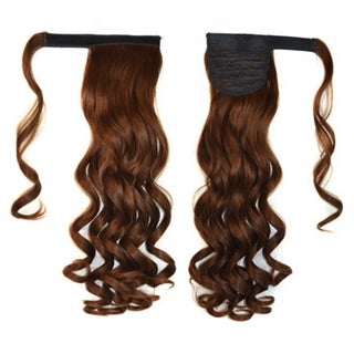 Magic Tape Long Curled Hair Extension Wig    light brown K06-2M30#