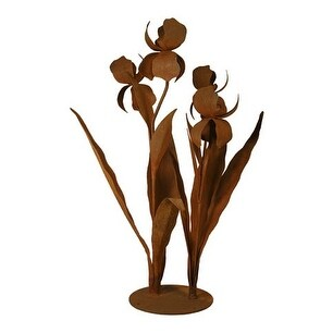 Patina Products S679 Large Iris Garden Sculpture - Mary
