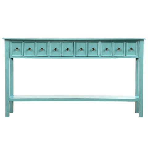 Harper & Bright Designs Rustic 4-drawers Long Entryway Console Table