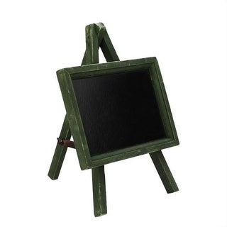 """9"""" Decorative Green Wooden Table Top Chalkboard with Easel"""