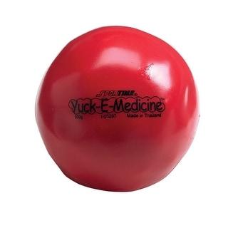 Sportime 1.1 lb, 4-1/2 in Yuck-E-Medicine Ball, Red