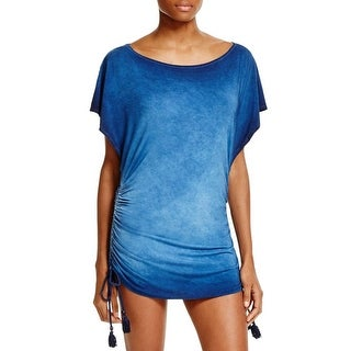Lucky Brand Womens Vacation Vibe Side Tie Tunic Dress Swim Cover-Up - M/L