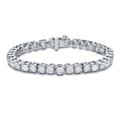 Auriya 14k Gold 15ctw Round Diamond Tennis Bracelet