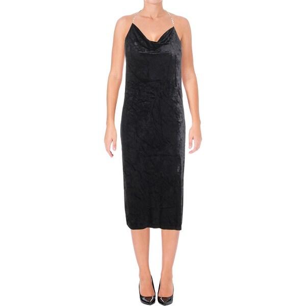 d2c14e321a87 Juicy Couture Black Label Womens Semi-Formal Dress Velour Sleeveless