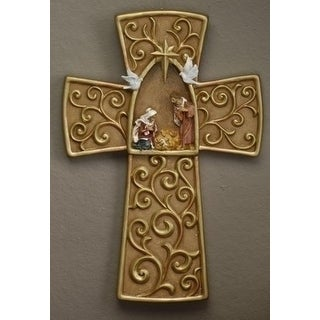 Fontanini Holy Family Religious Nativity Wall Cross #54632
