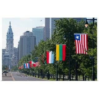 """Benjamin Franklin Parkway, Philadelphia, Pennsylvania"" Poster Print"