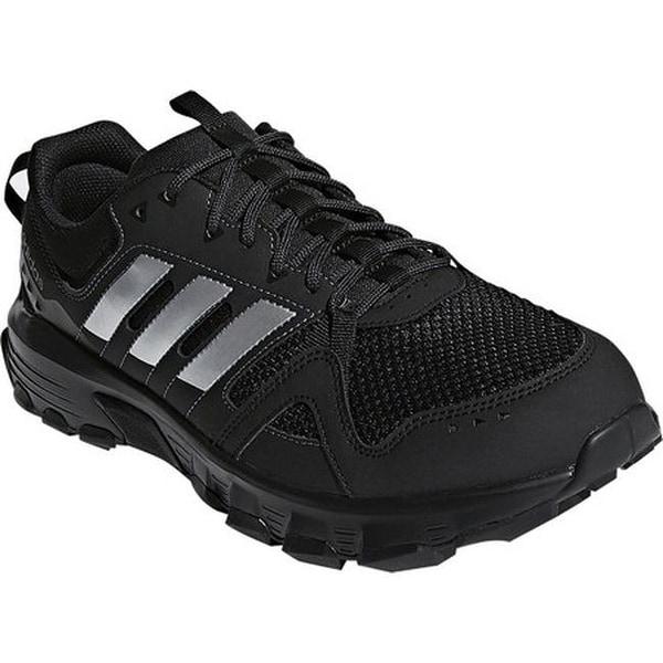 584f312520ca adidas Men  x27 s Rockadia Trail Running Shoe Black Matte Silver Carbon