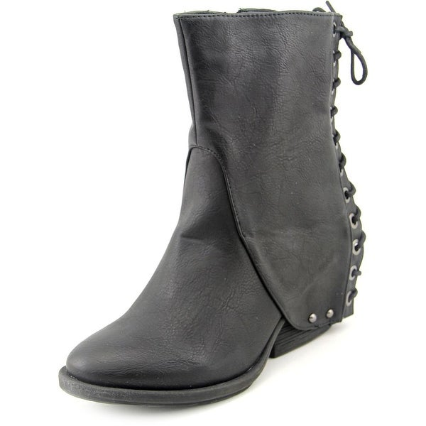Two Lips Temper Women  Round Toe Synthetic  Ankle Boot