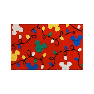 """Hooked Mickey Lights Red (1'8"""" x 3'2"""") - 1'8"""" x 3'2"""""""