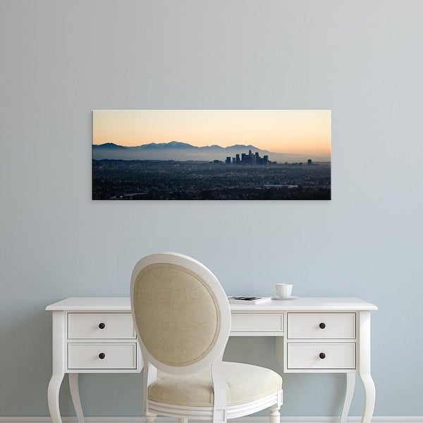 Easy Art Prints Panoramic Images's 'Buildings in a city, Los Angeles, California, USA' Premium Canvas Art