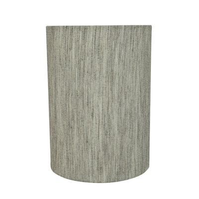 """Aspen Creative Drum (Cylinder) Shaped Spider Construction Lamp Shade in Light Grey (8"""" x 8"""" x 11"""")"""