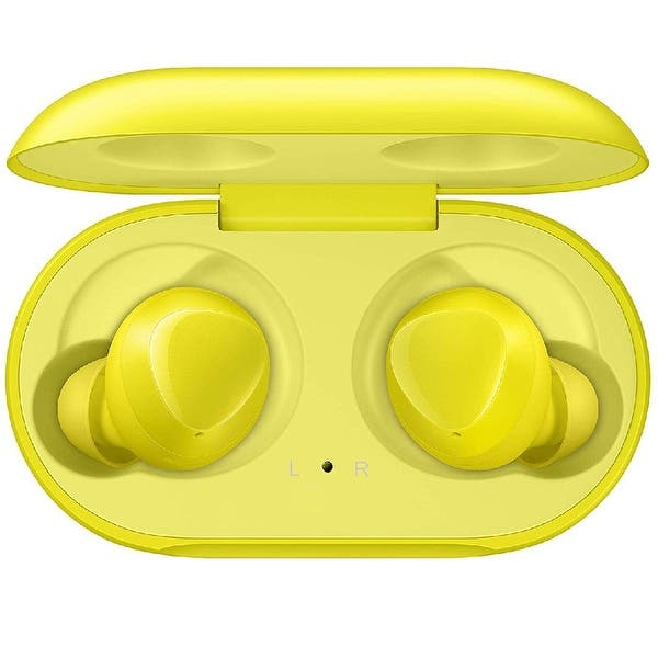 Shop Samsung Galaxy Buds 2019 Bluetooth True Wireless Earbuds Wireless Charging Case Included Yellow 1 6 X 3 7 X 3 4 Overstock 29344785