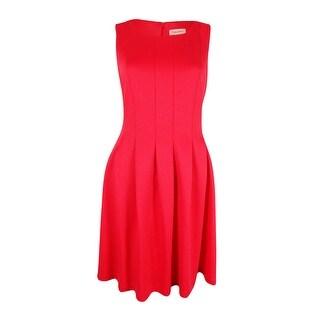 Calvin Klein Women's Pleated Scuba Dress