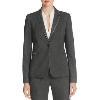 Elie Tahari Womens Tova One-Button Blazer Tweed Non-Vented (2 options available)