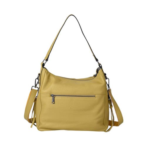 Genuine Leather Hobo Bag with Swivel Lever Snap for Holding The Key - 13x5.12x13 inches