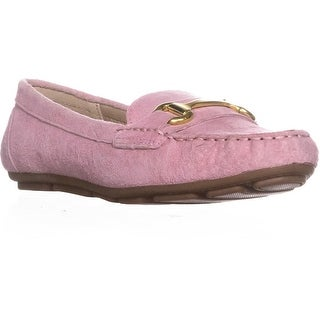 White Mountain Scotch Moccasin Loafers, Pink