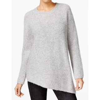 Eileen Fisher NEW Gray Women Size Large L Asymmetrical Crewneck Sweater