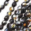 Czech Fire Polished Glass Beads 4mm Round Jet Marea (50) - Thumbnail 0