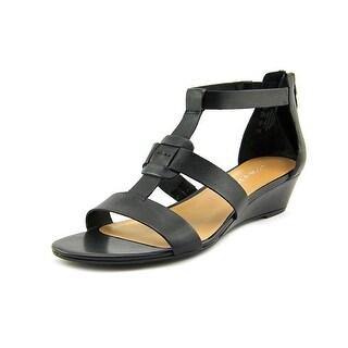Franco Sarto Utility Open Toe Leather Sandals