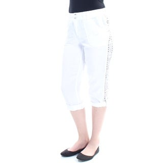 Womens White Gold Cargo Pants Size 4
