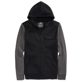American Rag NEW Black Mens Size Medium M Full Zip Hooded Sweater