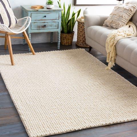 Armin Handmade Textured Wool Blend Area Rug