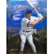 Signed Green Shawn Los Angeles Dodgers 35x23 Poster autographed