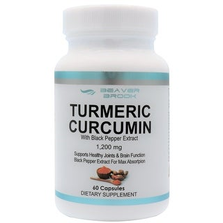 Beaver Brook Turmeric Curcumin With Black Pepper Extract 1200 mg Dietary Supplement