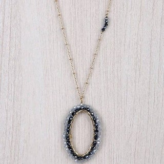 Mad Style Navy/Gold Kate Pendant Necklace