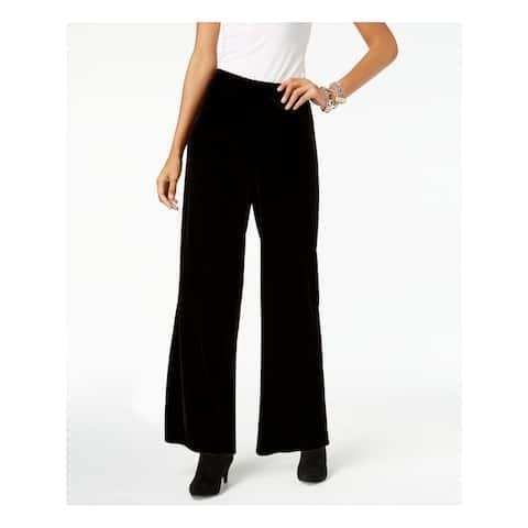 ALFANI Womens Black Wide Leg Wear to Work Pants Size S