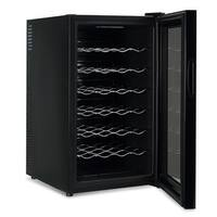 DELLA Wine Champagne Cooler Black Counter top Touch Push Button Mini Wine Fridge Red White Glass Door 24 Bottle Chiller