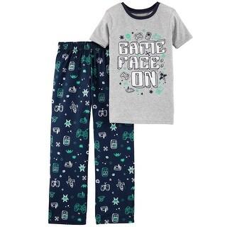 Carter's Little Boys' 2-Piece Gamer Cotton & Poly PJs, 5-Kids - gray