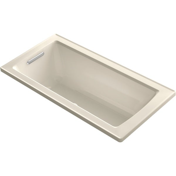 """Kohler K-1947-GH Archer 60"""" Drop In Acrylic Air Tub with Reversible Drain and Overflow - Comfort Depth Technology - White"""