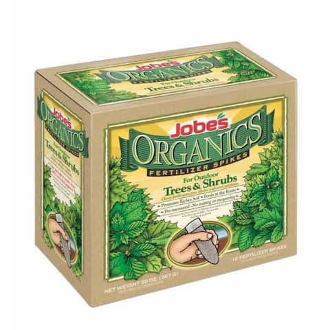 Jobes 01260 Organic Tree Fertilizer Spikes, 5-5-5