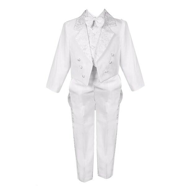 Angels Garment Toddler Little Boys Black Classic 5 Pc Set Tuxedo6M-20