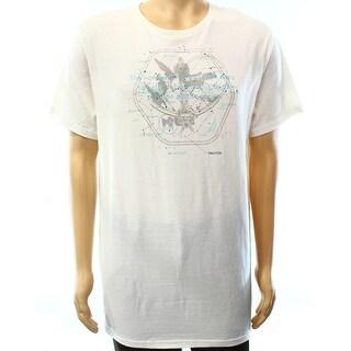 Nautica NEW White Ivory Mens Size Medium M Compass Graphic Tee T-Shirt