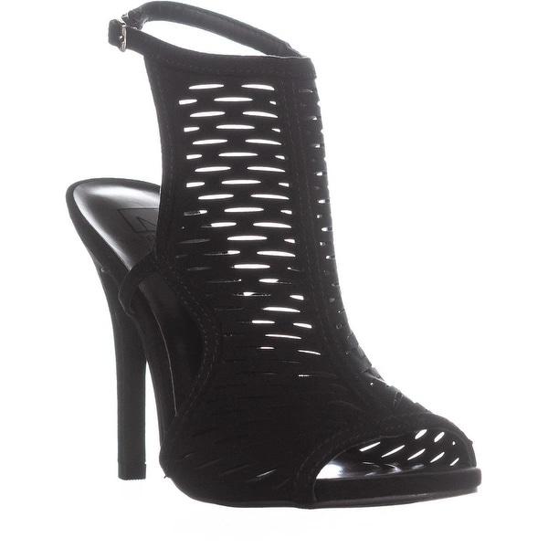 MG35 Regina Reep Toe Ankle Strap Sandals, Black