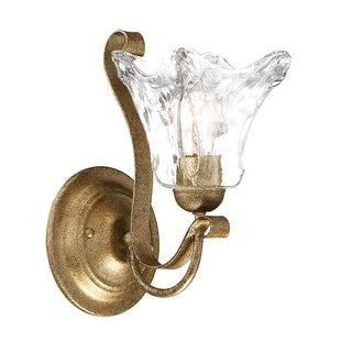 "Millennium Lighting 7431 Chatsworth Single Light 11.5"" Tall Bathroom Sconce with Fluted Glass Shade"