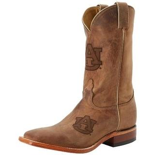 Nocona Boots Mens Leather Auburn University Cowboy, Western Boots - 9 medium (d)