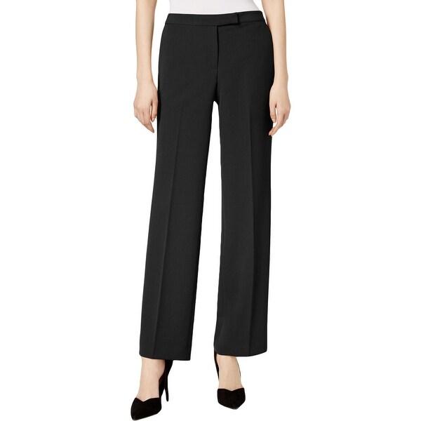Kasper Womens Dress Pants Straight Leg Crepe