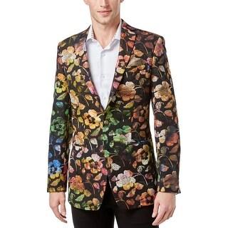 Tallia Mens Blazer Floral Print Metallic - 36r