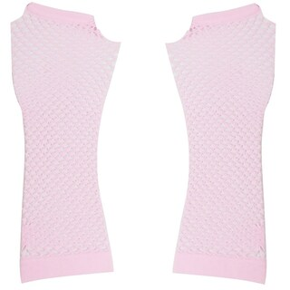Pair Lavender Stretchy Mesh Fishnet Elbow Fingerless Goth Arm Warmers for Lady (5 options available)