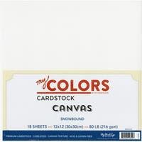 """My Colors Canvas Cardstock Bundle 12""""X12"""" 18/Pkg-Snowbound"""