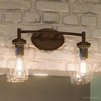 "Luxury Vintage Bathroom Vanity Light, 10""H x 16""W, with Antique Style, Estate Bronze Finish"