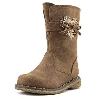 Rachel Shoes Shelby Toddler Round Toe Synthetic Tan Boot