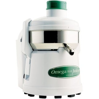 Omega Juicers J4000 Juicer with Professional Pulp Ejection, White