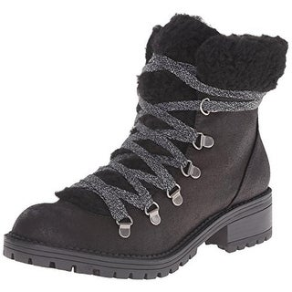 Madden Girl Womens Bunt Ankle Boots Faux Suede Faux Fur